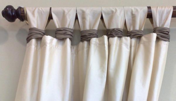 «Крючки» из шторы – оригинальный способ