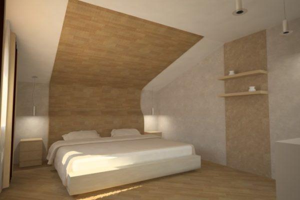 Ламинированные планки смотрятся на потолке современно и стильно.