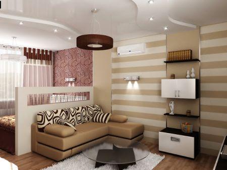 Потолочное освещение для спальни-гостиной