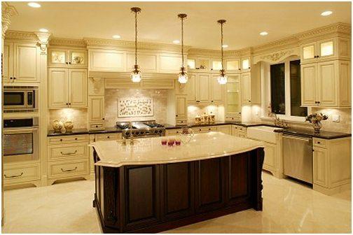 Пример правильного расположения светильников на кухне