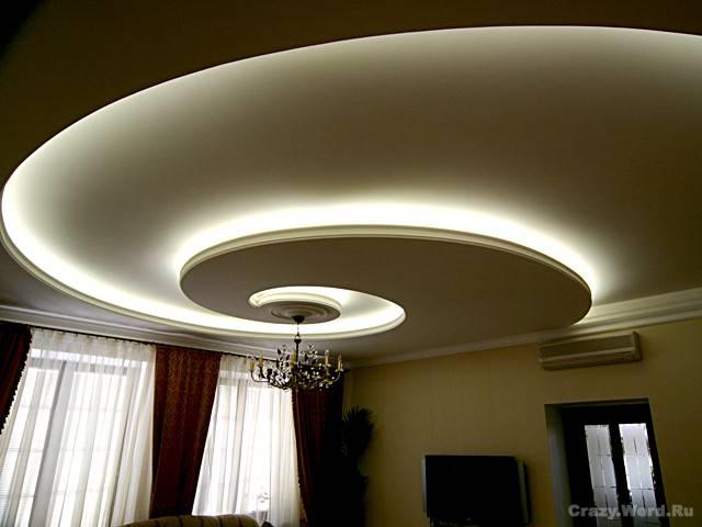 LED лента белого цвета – оптимальный вариант подсветки гипсокартонных и натяжных потолков.