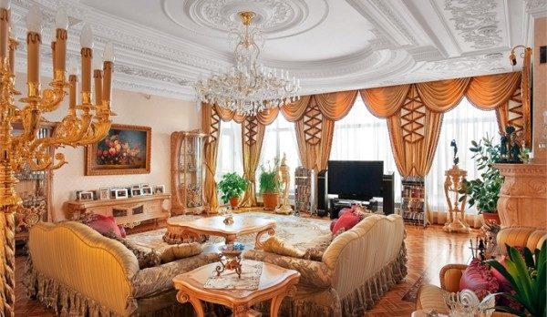 Лепной потолок в эстетике неоклассики.