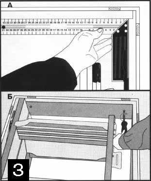 Проверка прямых углов при монтаже лестничной коробки