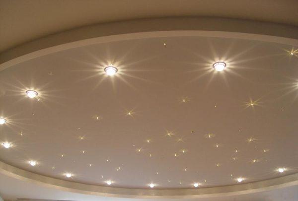 Люминесцентные приборы прекрасно подходят для невысоких стен.