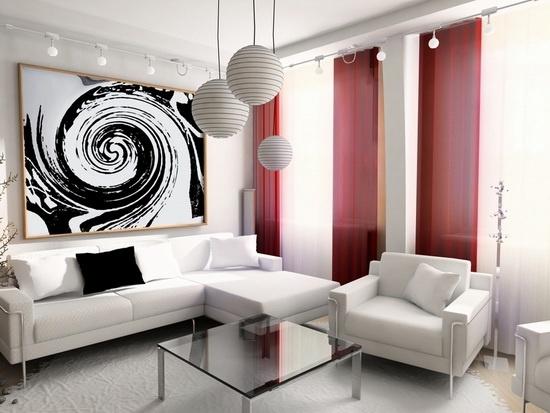 Люстры для зала потолочные в стиле модерн.