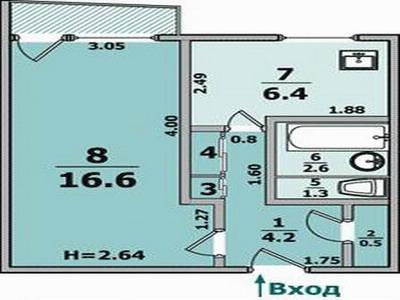 В квартирах чешского типа высота потолков, как правило, составляет 2,6-2,7м, что принято считать оптимальным вариантом