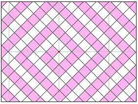 Монтаж двухцветной потолочной плитки змейкой