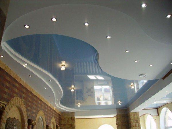 Потолок из ГКЛ может иметь самую причудливую форму