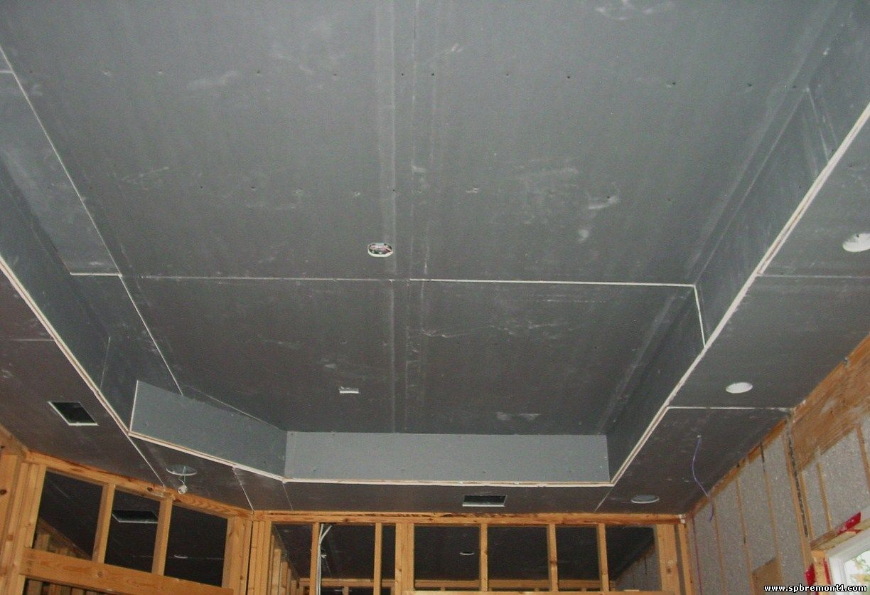 Потолок из гипсокартона фото своими руками с