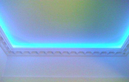 Виды подсветок потолка