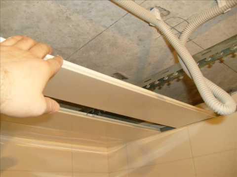 Монтаж реечного потолка на шину