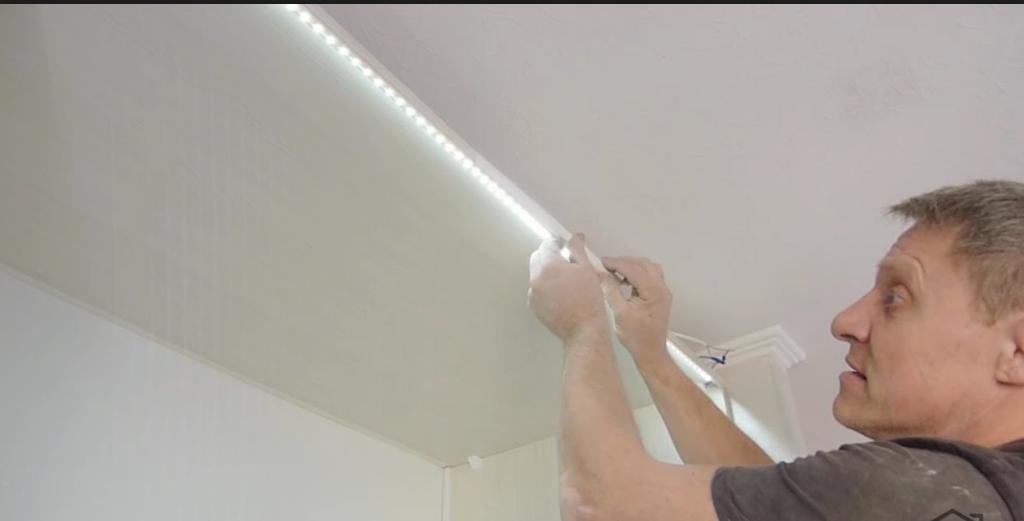 Монтаж светодиодов в коробе