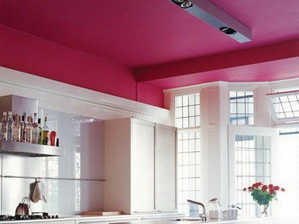 На фото – окрашенный многоуровневый потолок из гипсокартона
