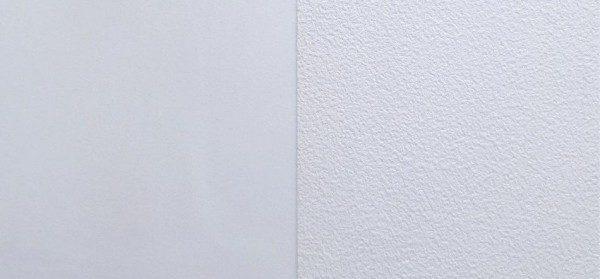 На фото хорошо видна разница между сатиновой и матовой пленкой. Сатин – слева