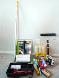 Набор инструментов для малярных работ
