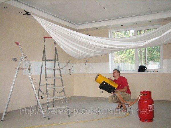 Натяжные потолки на кухне: особенности монтажа