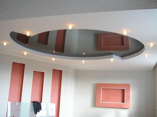 Натяжной потолок на гипсокартон – это красиво