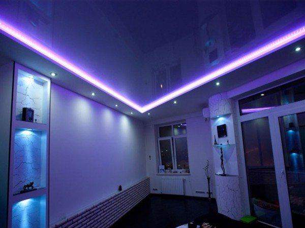 Потолок со светодиодной подсветкой своими руками