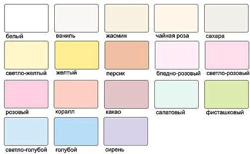 цвета натяжных потолков фото: