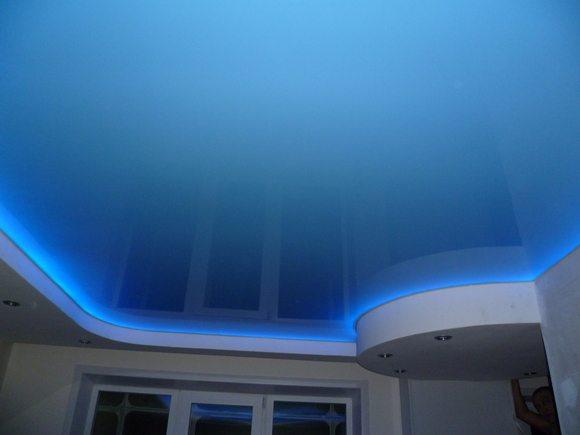 Светодиодная подсветка натяжного потолка, которую можно сделать своими руками