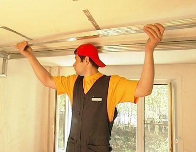 Как своими руками сделать навесной потолок