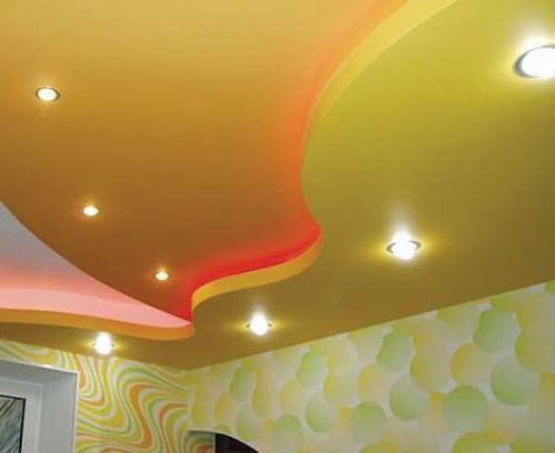 Пример навесных потолков