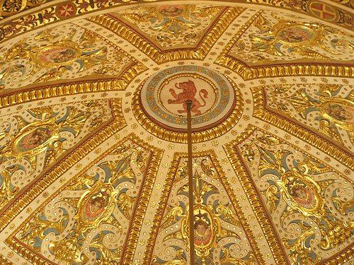 Потолок на тканевой основе XVIII века