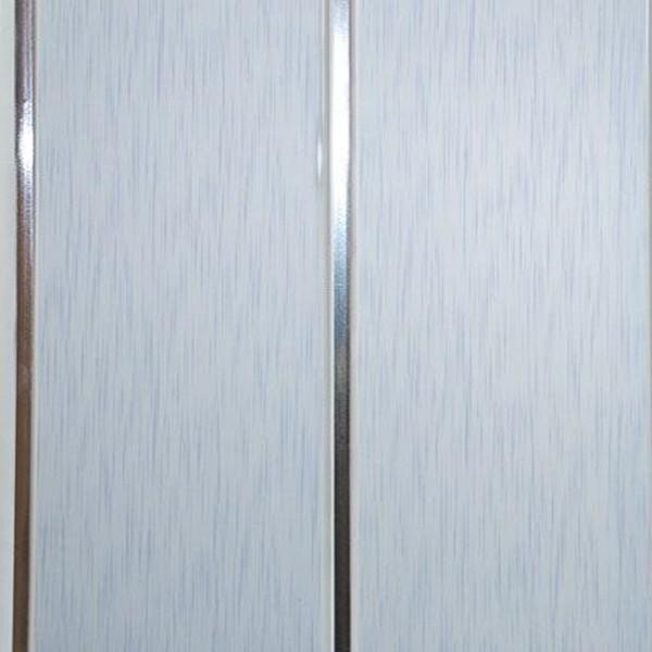 Образец панели «СОФИТО» с голубым штрихом и двумя серебряными полосами