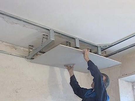 Сделать навесной потолок своими руками