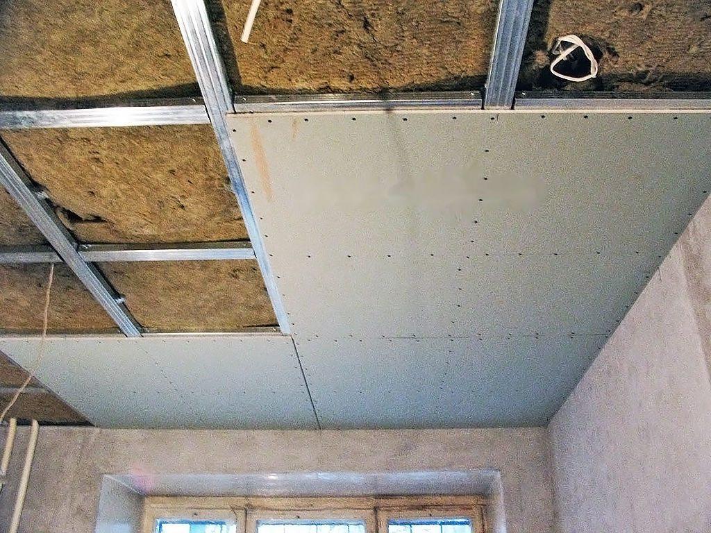 Схема обшивки гипсокартонном потолка