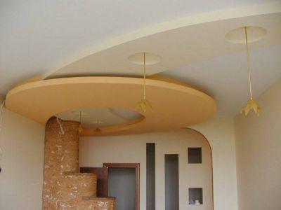 Оформление потолка и стен гипсокартонными конструкциями