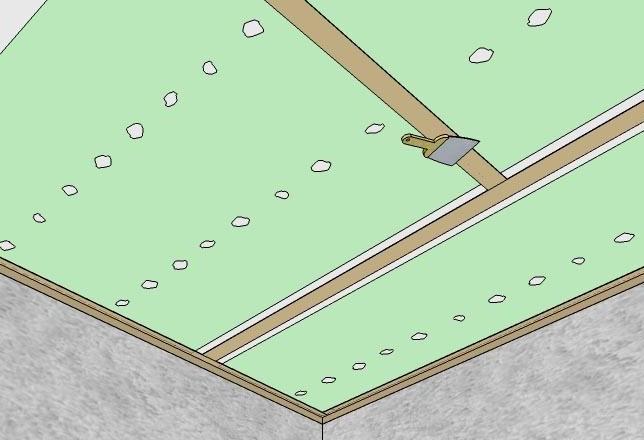 Трещины на цельном листе появляются крайне редко. А вот швы между ними стоит проклеить бумажной лентой.