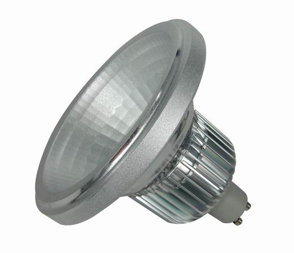 Оребрение между колбой и цоколем служит отводу тепла от мощного светодиода.