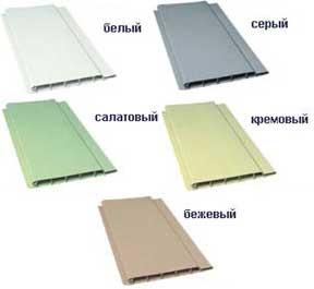 Основной цветовой ассортимент пластиковой вагонки