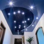 Освещение потолка точечными светильниками