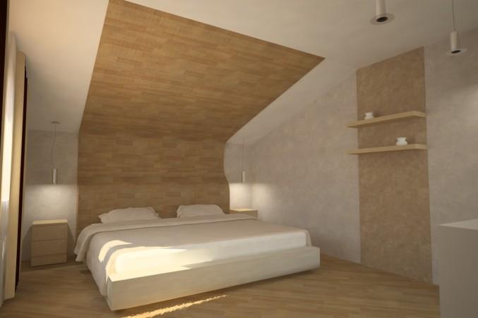 Ламинатные потолки в спальне почти не влияют на высоту помещения