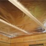 Пароизоляция и гидроизоляция потолка бани