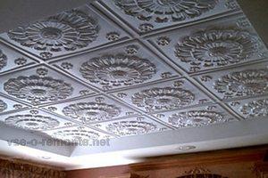 Плитка пенопластовая потолочная