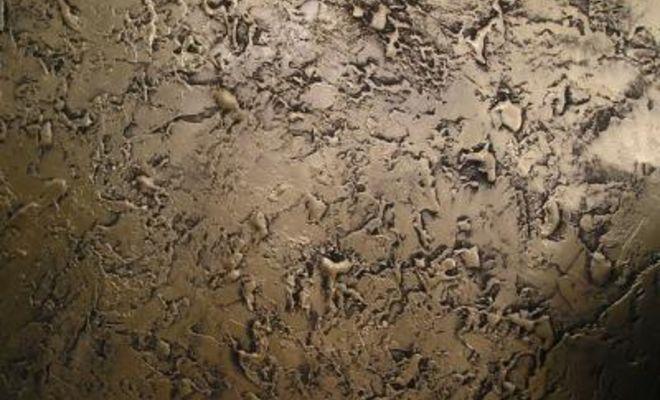 Перед вами поверхность, окрашенная структурной краской. Чтобы умерить ваш восторг - черным цветом выделяется накопившаяся грязь.