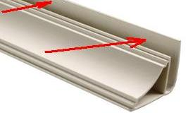 сто стартовой рейки можно прикрепить потолочный плинтус [caption id=