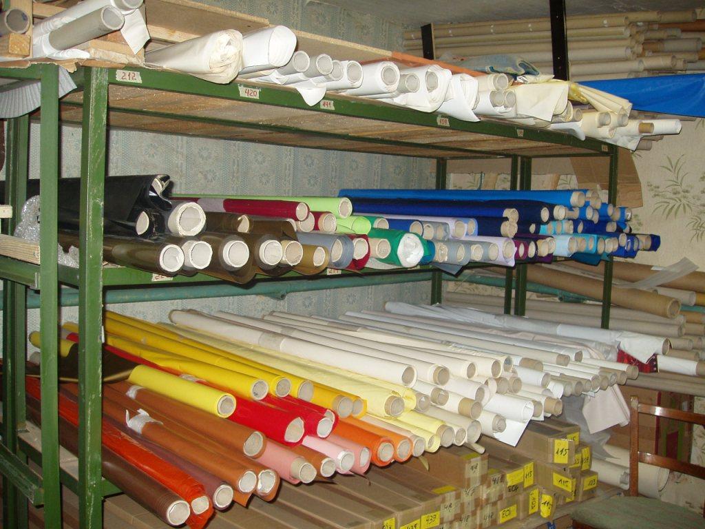 Так выглядит склад сырья у фирмы, занимающейся монтажом потолков под ключ.