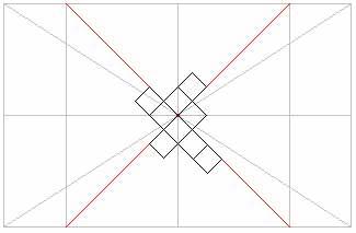 Разметка потолка для диагонали, для диагонали с окантовкой и для ровного наклеивания
