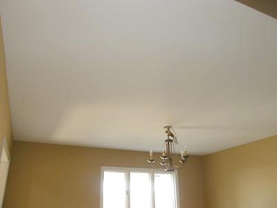 Готовы «белоснежный» потолок