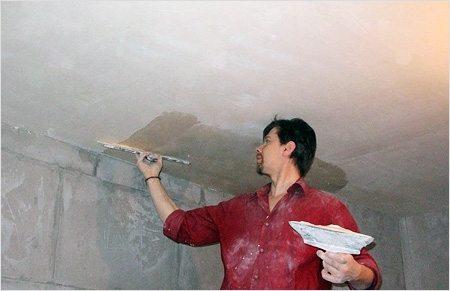 Процесс выравнивания потолка своими руками