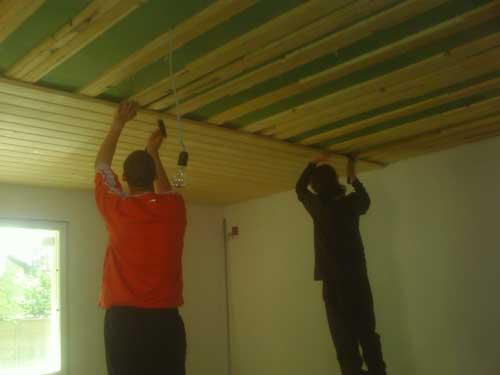 Методы крепления деревянной вагонки