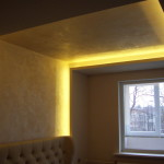 Подсветка потолка светодиодными лентами