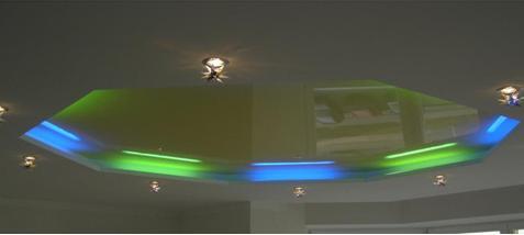 Использование неоновых ламп для подсветки потолка