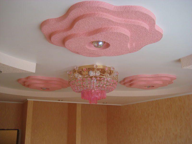 Оригинальный многоуровневый подвесной потолок из гипсокартона