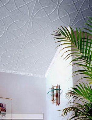 Полистирольная плитка в отделке потолка