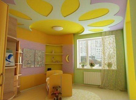 Потолок в детской из гипсокартона – непревзойденный результат
